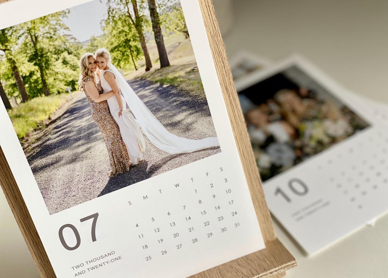 9x6 Timber Calendar